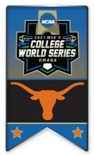2021 NCAA College World Série Broche Texas Longhorns Program & Patch En Magasin