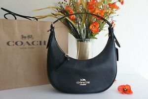 NWT Coach C1320 Bailey Hobo In Refined Pebble Leather Black $328