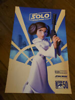 2019 SDCC COMIC CON EXCLUSIVE HOME SOLO LEIA A STAR WARS TOY STORY PROMO POSTER