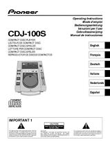 Pioneer CDJ-100S CD Player Owners Manual