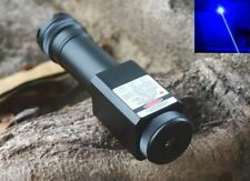 Waterproof Focusable Super Powerful 450nm Blue Laser Pointer LED Torch 450T-2000