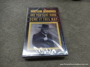 WAYLON JENNINGS Are You Sure Hank Done It This Way Brand New Cassette CS Free PH