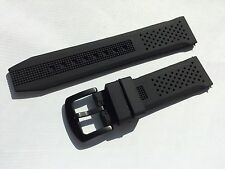 22mm Black Silicone Rubber Watch Band Strap for Dive r Scuba watch fit 22mm LUG
