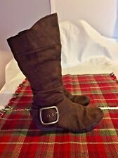 Canyon River Blues Girl's Dark Brown Boots W/Buckle Size 2 Excellent Condition