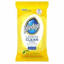 Pledge Lemon Scented Enhancing Wipes (Pack of 2)