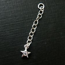 925 Sterling Silver Extender -Star Extender-CZ Extension Chain -1 inch ( 3 pcs )