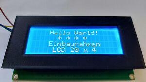 Front frame enclosure LCD 20x4 2004 Arduino Raspberry Yver Inc. FF2004