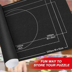 Jigsaw Puzzle Storage Mat Roll Up Puzzle Felt Storage Pad Up To 2000 Pieces