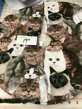 "19"" Flannel Cat garden Christmas Tree Skirt made4u"