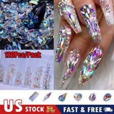 120Pcs Ab Diamond Gems Nail Glitter Crystal Rhinestones Gemstone Nail Art Decors