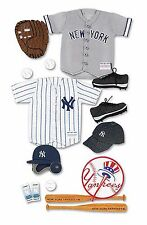 Huge Lot! 55 New York Yankees Mlb Scrapbook 3D Uniform Baseball Sticker