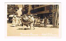 Hotel El Panama Tamborito Dancers Panama Real Photo Postcard Unused 1950s