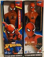 """Lot 2 Titan Hero Series Spider-Man 2018 & Far From Home 12"""" Action Figures NEW"""