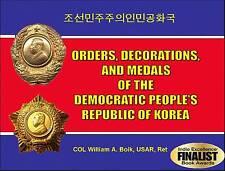 NEW ALL COLOR BK NORTH KOREA [DPRK] ORDERS MEDALS Order Medal