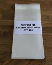(200) Perfect Fit PSA Graded Card Sleeves / Bags - Cellophane Slab Protection
