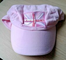 CHILDRENS PALE PINK BASEBALL CAP 8-12 YEARS - GEORGE - FLAG & SEQUINS