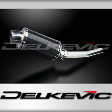 "Yamaha YZF-R6 DS70 9"" Carbon Fiber Oval Muffler Exhaust Slip On 98 99 00 01 02"