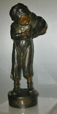ANTIQUE 19c PATINATED AUSTRIAN BRONZE OF A YOUNG BOY