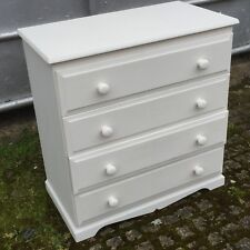 Shabby Chic Painted Chest of 4 Drawers  Bedroom Furniture