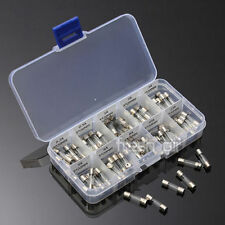 100 x 5* 20mm Electrical Fuse  Fast blow Circuits Glass Fuse Amp Set 0.2A - 15A