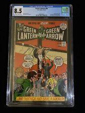 DC COMICS: GREEN LANTERN #89, 4-5/72, CGC 8.5 Off-White To White Pages, 8012