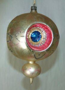 BIG! Antique MERCURY GLASS Christmas Ornament LOT M