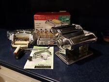 Villaware Complete 5 Piece Al Dente Pasta Machine with Attachments & Booklet EUC