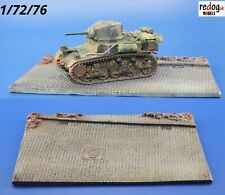 Redog 1:72 Paved Road Diorama Resin Base for Military Scale Model Vehicles D2