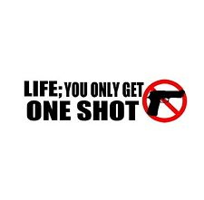 Gun Control One Shot Car Bumper Sticker Decal Windows Laptop
