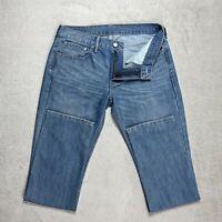 Mens LEVIS 511 Jeans Size W33 L31 Slim Fit Tapered leg Mid Blue Denim Zip fly