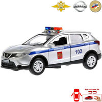 Nissan Qashqai Diecast Metal Model Car Russian Police Toy Die-cast Light Sound