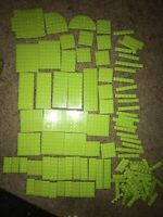 Nice Lego Lot of Assorted Lime Green Flat Plates Friends Baseplates