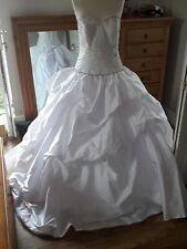 NEW HEARTSKIPPING Fairytale Ronald Joyce silk taffeta wedding dress 😍 size 14