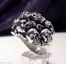 Cluster Sterling Silver Rings for Men
