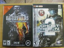 PC BUNDLE: Battlefield 3: Limited Edition (PC, 2011) & Ghost Recon (DVD, Online)