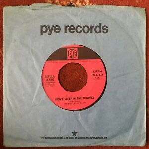 Petula Clark, Don't Sleep In The Subway,60s Pop Vocal, 45RPM Vinyl Single 7-inch