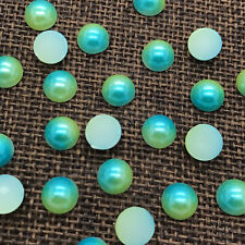 6mm 100pcs Half Round Bead Flat Back Pearl Scrapbooking Embellishment colour #13