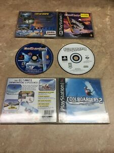 Cool Boarders 2 & 2001 Sony PlayStation 1 PS1 Complete 2 Game LOT Black Label