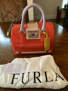 NWT Furla Women's Candy Satchel Color: Speed +Hibiscus Red Ret. $428