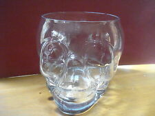 WILLIAMS SONOMA HALLOWEEN SKULL PUNCH BOWL GLASS NEW SOLD OUT