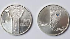 Finnland 2 x 10 Euro 2009 Minna Canth und 2010 Münze 925 Sterling Silber COA