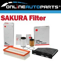 Air Oil Fuel Cabin Filter Service Kit suits VW Caddy 2KN 4cyl 1.6L CAYD 2010~15