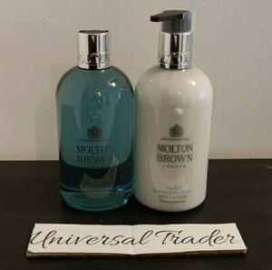 Molton Brown Coastal Cypress & Sea Fennel Bath & Shower + Body Lotion 300ml Duo