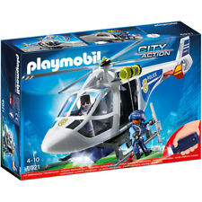PLAYMOBIL Police Helicopter with LED Searchlight - City 6921