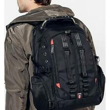 Black Traveling Backpack Waterproof Durable Dual Band Outdoor Laptop Bag w/ USB
