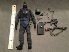 "12"" Police Figure Dam Toys/Hot Toys? Guns, Shells, Holster, Swat Gear"