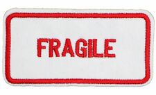 FRAGILE PATCH, AWARENESS / ALERT FRAGILE PATCH APPLIQUE EMBROIDERED (F-648)