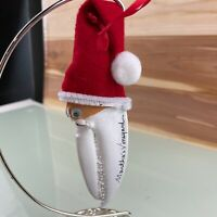 Vintage Santa Lobster Claw Handmade Christmas Ornament Martha's Vineyard6in