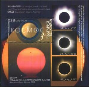 Mint S/S  Space  Planets Solar  Eclipse  2012  from Bulgaria   avdpz