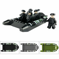 12Pcs/Set Special Forces Soldier with Weapons Building Blocks Boat Kids Toy New